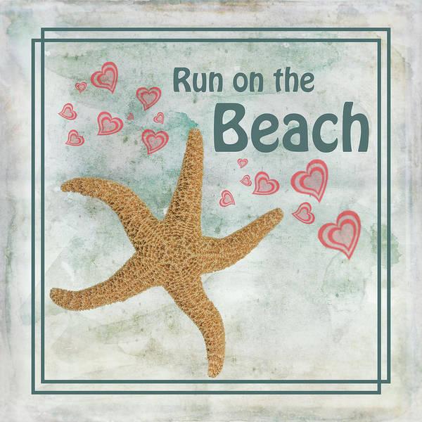 Starfish Painting - Run On The Beach by Ramona Murdock