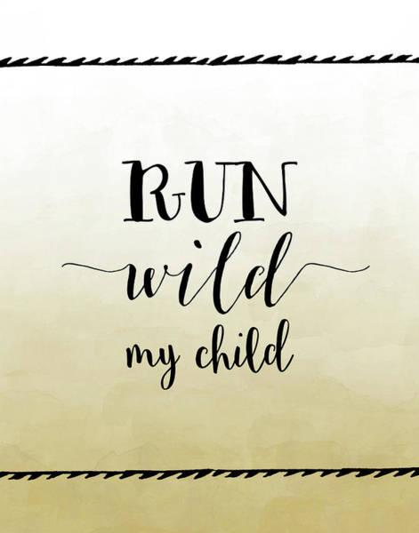 Kid Wall Art - Painting - Run Wild by Tara Moss