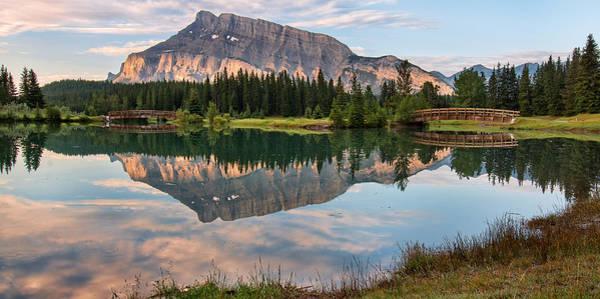 Wall Art - Photograph - Rundle Mountain Reflection by James Wheeler