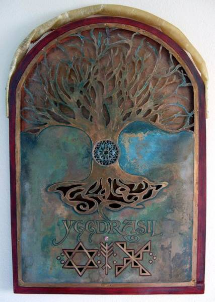 Yggdrasil Photograph - Runes For Restoration by Shahna Lax