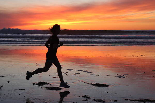Photograph - Runner At Sunset by Nathan Rupert