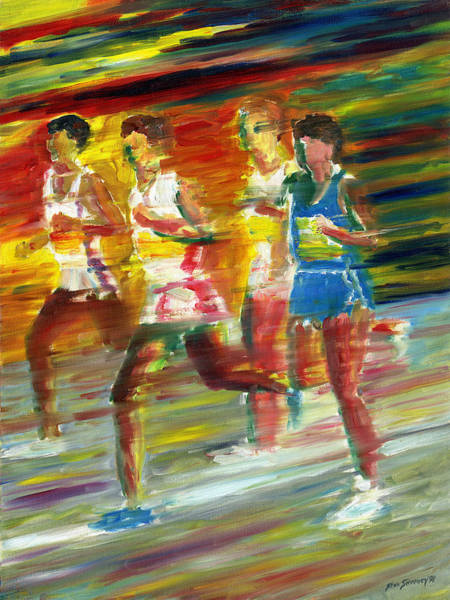 Jogging Painting - Runners by Stan Sweeney