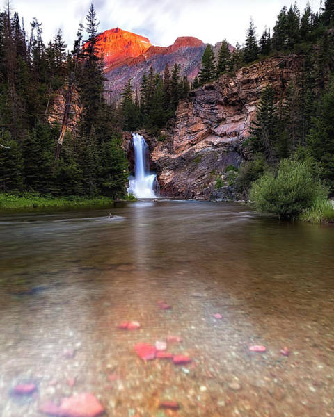 Photograph - Running Eagle Falls - Two Medicine Montana by John Vose
