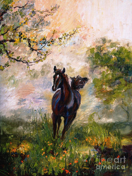 Painting - Running Free Horse Painting by Ginette Callaway