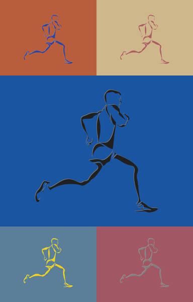 Athens Marathon Wall Art - Photograph - Running Runner2 by Joe Hamilton