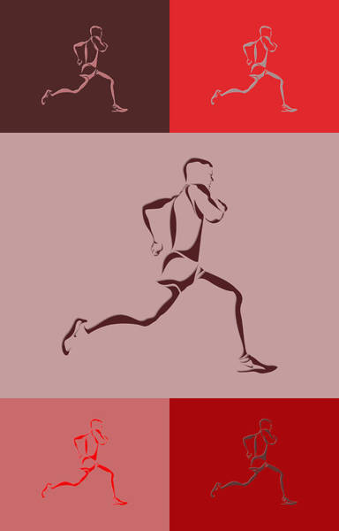 Athens Marathon Wall Art - Photograph - Running Runner4 by Joe Hamilton