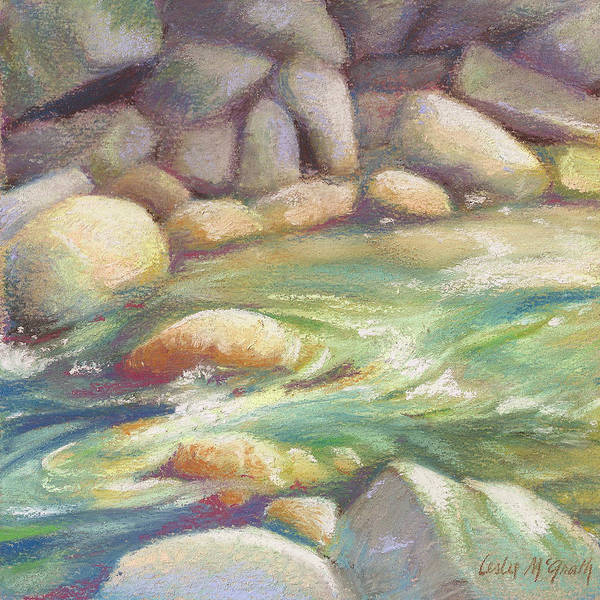 Wall Art - Painting - Running Stream by Leslie Alfred McGrath