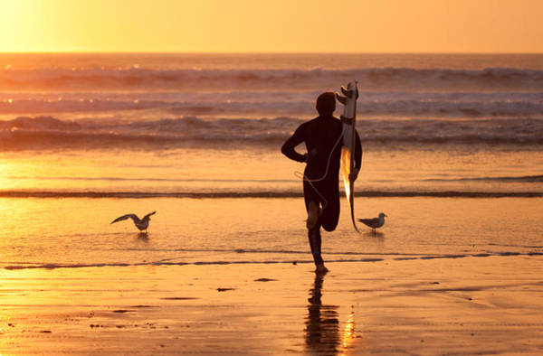 Photograph - Running To Surf by Nathan Rupert