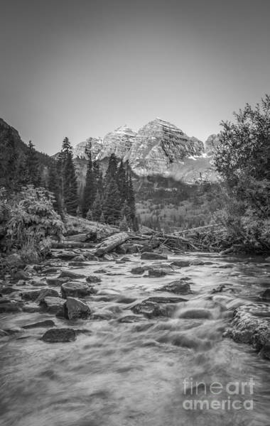 Maroon Bells Photograph - Runoff  Bw by Michael Ver Sprill