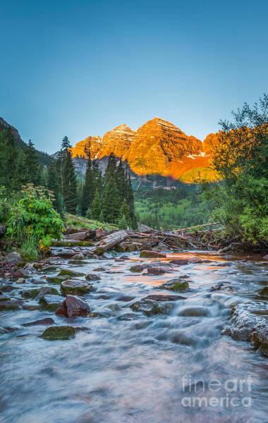 Bell Rock Photograph - Runoff by Michael Ver Sprill