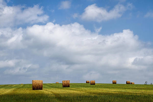 Haybale Wall Art - Photograph - Rural America - A View From Kansas Country Roads by Scott Bean