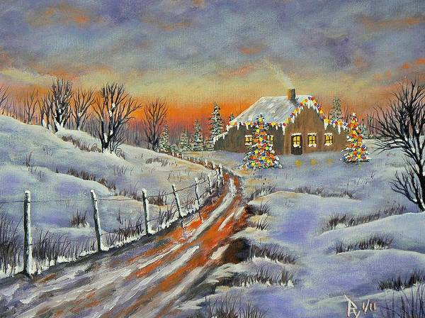 Painting - Rural Christmas by Ray Nutaitis