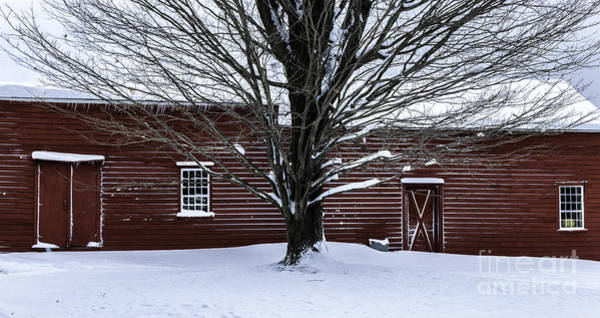 Wall Art - Photograph - Rural Farmhouse Simplicity - A Winter Scenic by T-S Fine Art Landscape Photography
