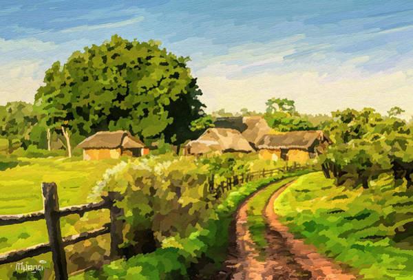 Uganda Painting - Rural Home by Anthony Mwangi