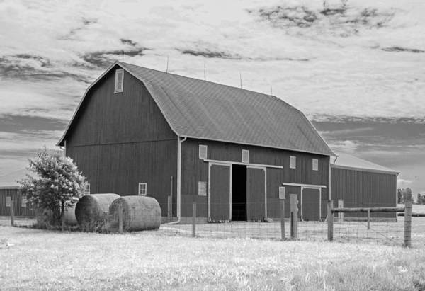Wall Art - Photograph - Rural Indiana Barn II - Infrared by Suzanne Gaff