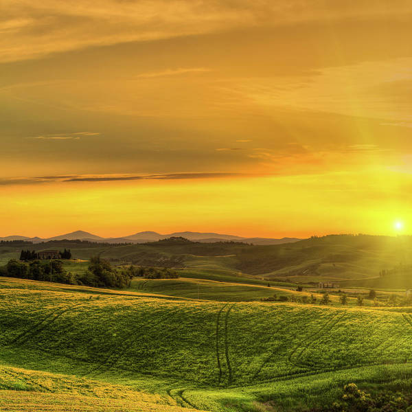High Dynamic Range Imaging Photograph - Rural Landscape With Wheat Fields At by Zodebala