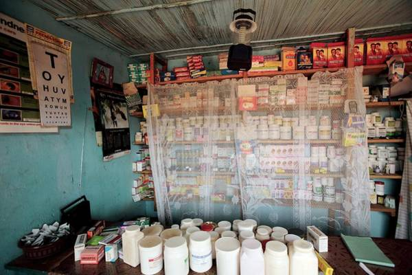 Uganda Wall Art - Photograph - Rural Pharmacy by Mauro Fermariello/science Photo Library