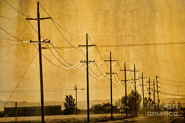 Wall Art - Photograph - Rural Power Lines by Matt  Trimble