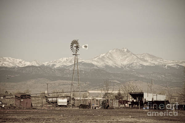 Photograph - Rural Rustic Colorado Longs Peak Country View by James BO Insogna