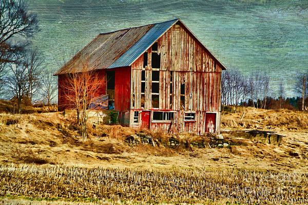 Photograph - Rural Rustic Vermont Scene by Deborah Benoit