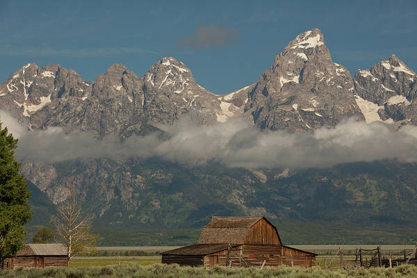 Moulton Wall Art - Photograph - Rural Setting With Grand Tetons by Carol Polich Photo Workshops