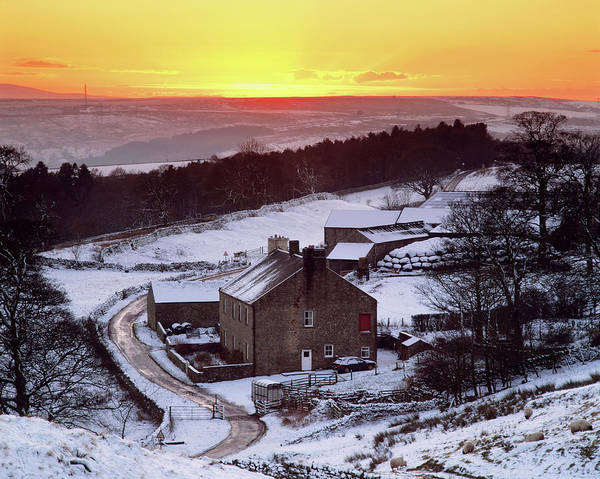 Wall Art - Photograph - Rural Winter Landscape by Simon Fraser/science Photo Library