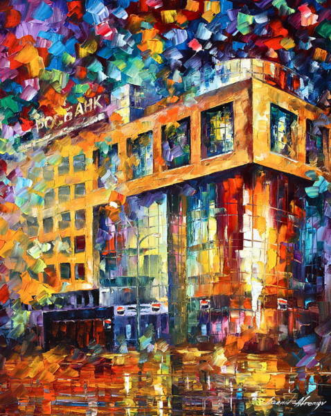 Russian Impressionism Wall Art - Painting - Rusbank Moscow by Leonid Afremov