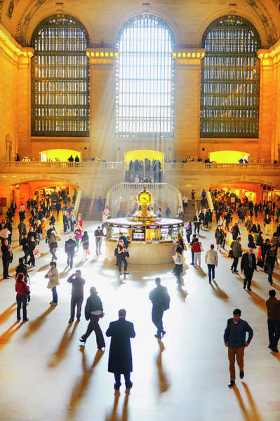 Rush Hour Photograph - Rush Hour In Grand Central Station by Mitchell Funk