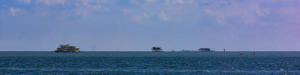 Photograph - Rush Hour In Stiltsville by Ed Gleichman