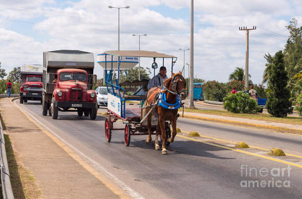 Photograph - Rush Hour In Varadero by Les Palenik
