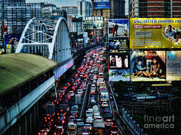 Photograph - Rush Hour Manila Philippines by Ron Roberts