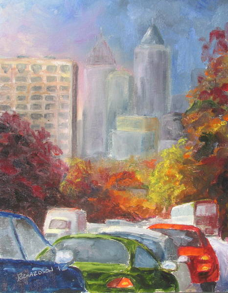Delivery Truck Painting - Rush Hour by Susan Richardson