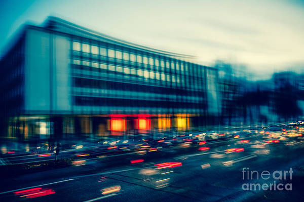 Photograph - Rush Hour - Vintage by Hannes Cmarits