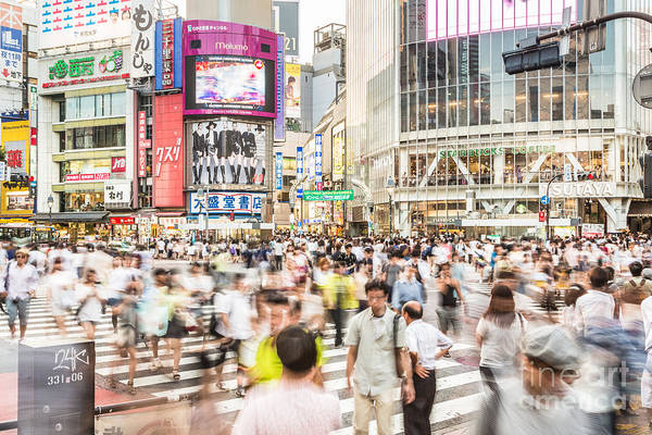 Photograph - Rush In Shibuya Crossing In Tokyo by Didier Marti
