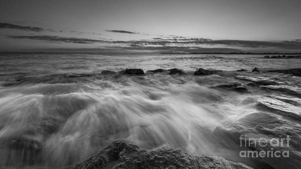 Southern Rock Photograph - Rushing In Bw by Michael Ver Sprill
