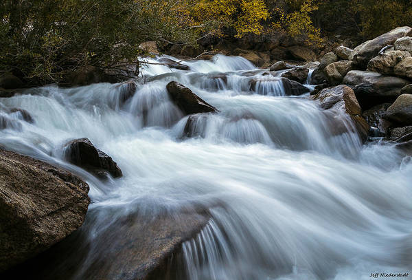 Photograph - Rushing by Jeff Niederstadt