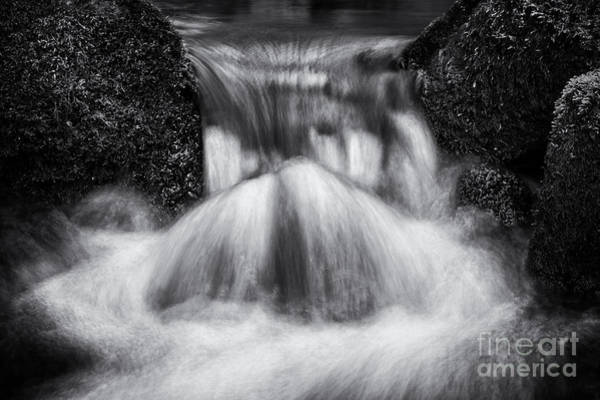 Gully Photograph - Rushing Waters Devon by Tim Gainey