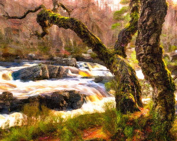 Photograph - Rushing Waters Of The Highland Black Water by Mark Tisdale