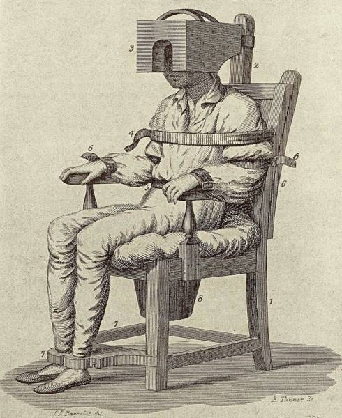 Restrain Photograph - Rush's Tranquiliser Chair by American Philosophical Society