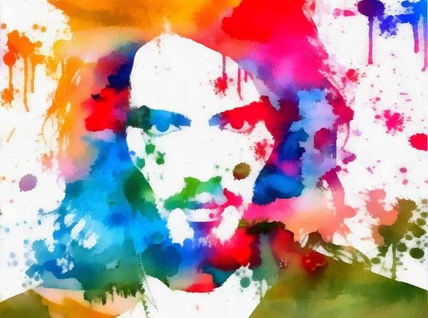 Greek Mixed Media - Russell Brand Paint Splatter by Dan Sproul