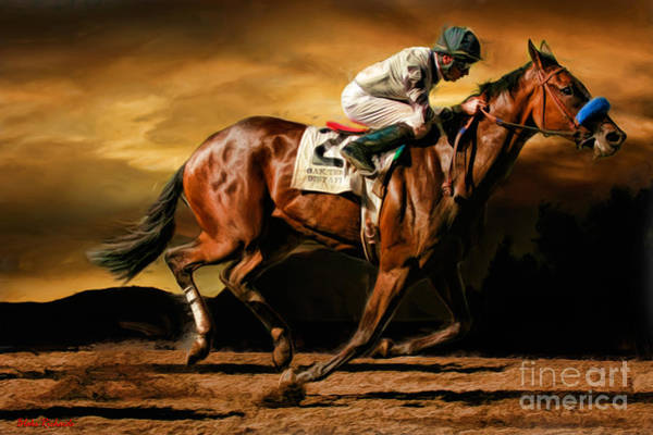 Photograph - Russell Baze On Horse Top Kisser  by Blake Richards