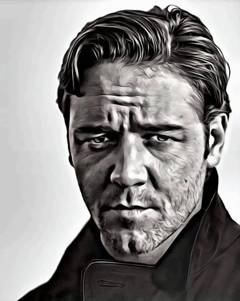 Painting - Russell Crowe Portrait by Florian Rodarte