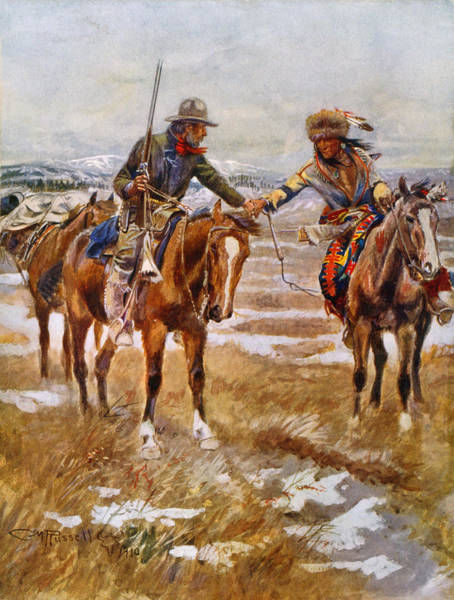Wall Art - Painting - Russell The Meeting, 1910 by Granger