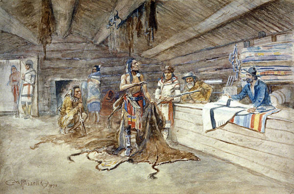 Native American Blanket Painting - Russell Trading Post, 1898 by Granger