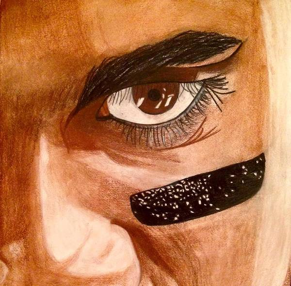 Super Bowl Drawing - Russell Wilson by Eleni Pessemier