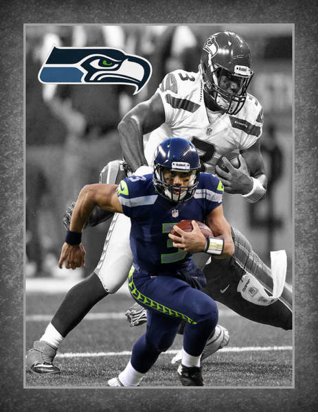 Football Players Wall Art - Photograph - Russell Wilson Seahawks by Joe Hamilton