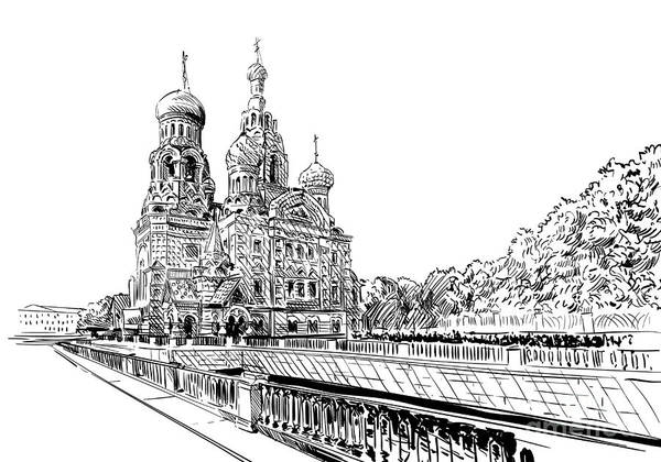 Buildings Digital Art - Russia. Saint Petersburg.savior On by Romanya