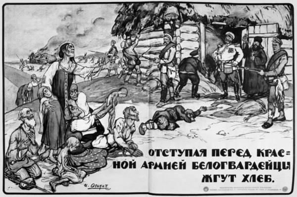 Bolshevik Painting - Russian Civil War by Granger