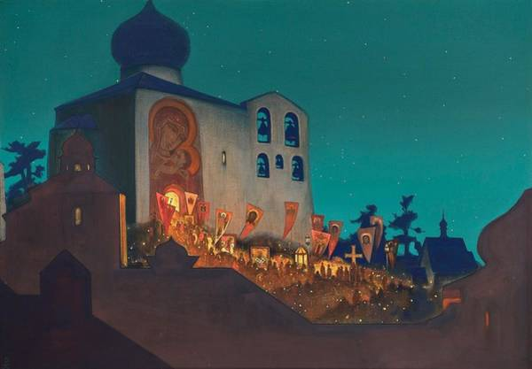 Nk Roerich Painting - Russian Easter by Nicholas Roerich