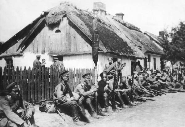 Photograph - Russian Soldiers Resting by Underwood Archives